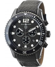 Elliot Brown 929-001-L01 Pánská bloxworth černý kožený řemínek chronograf hodinky