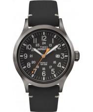 Timex TW4B01900 Pánská expedice analog zvýšenou černý kožený řemínek hodinky