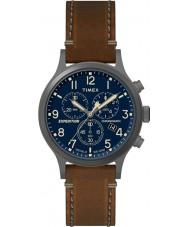 Timex TW4B09000 Pánská expedice hnědý kožený řemínek hodinky