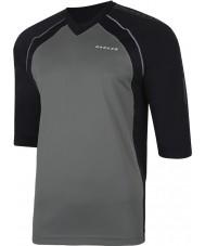Dare2b DMT300-44Q50-S Pánská vytočil v kouřové černém dresu tričko - velikost S
