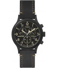 Timex TW4B09100 Pánská expedice černý kožený řemínek hodinky