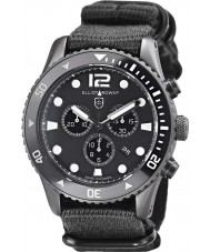 Elliot Brown 929-001-N02 Pánská bloxworth černá tkanina popruh chronograf hodinky