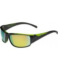 Bolle Keelback lesklé černé zelená polarizované sluneční brýle hnědé smaragd
