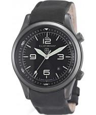 Elliot Brown 202-004-R06 Pánská Canford matně černý kožený řemínek hodinky