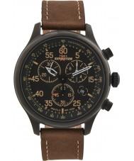 Timex T49905 Pánská černá hnědá expedice pole chronograf hodinky