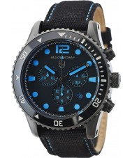 Elliot Brown 929-006-C02 Pánská bloxworth černá tkanina chronograf hodinky