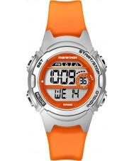 Timex TW5K96800 Dámské marathon střední velikosti oranžová pryskyřice chronograf hodinky popruh