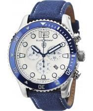 Elliot Brown 929-008-C01 Pánská bloxworth modrá tkanina popruh chronograf hodinky