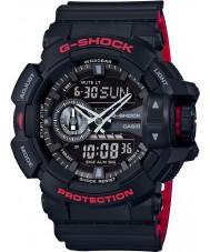 Casio GA-400HR-1AER Pánská g-shock světový čas černá combi hodinky