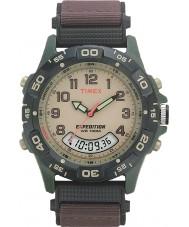 Timex T45181 Pánská krémová hnědá expedice combo hodinky