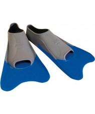 Zoggs 300395 Ultra modré a šedé tréninkové ploutve - uk velikost 12