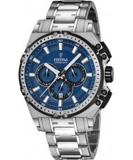 Festina F16968-2 Pánské Chrono kolo stříbro ocelářský chronograf hodinky