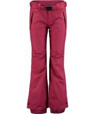 Oneill 658018-3049-XL Dámská hvězda vášeň červená lyžařské kalhoty - velikost XL