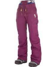 Picture WPT046-BURGU-M Dámské treva lyžařské kalhoty
