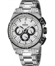 Festina F16968-1 Pánské Chrono kolo stříbro ocelářský chronograf hodinky