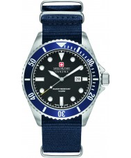 Swiss Military 6-4279-04-007-03 Pánská lachtan blue nylon popruh hodinky