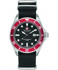 Swiss Military 6-4279-04-007-04 Pánská lachtan černý nylon popruh hodinky