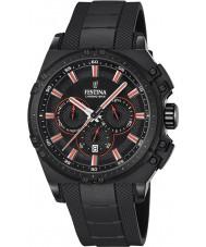 Festina F16971-4 Pánské Chrono kolo černá pryž chronograf hodinky
