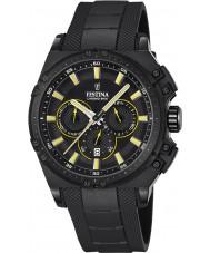 Festina F16971-3 Pánské Chrono kolo černá pryž chronograf hodinky