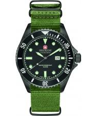 Swiss Military 6-4279-13-007 Pánská lachtan zelený nylonový popruh hodinky