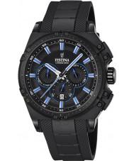 Festina F16971-2 Pánské Chrono kolo černá pryž chronograf hodinky
