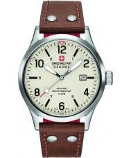 Swiss Military 6-4280-04-002-05 Pánská tajné hnědý kožený pásek na hodinky