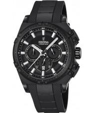 Festina F16971-1 Pánské Chrono kolo černá pryž chronograf hodinky