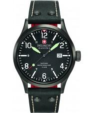 Swiss Military 6-4280-13-007-07 Pánská tajné černý kožený řemínek hodinky