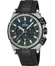 Festina F16970-3 Pánské Chrono kolo černá pryž chronograf hodinky