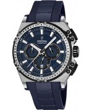 Festina F16970-2 Pánské Chrono kolo modré gumové chronograf hodinky