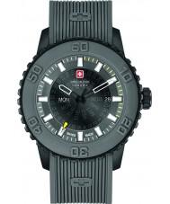 Swiss Military 6-4281-27-007-30 Pánská soumrak šedá silikonový pásek hodinky
