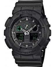 Casio GA-100MB-1AER Pánská g-shock matná černá pryskyřice popruh hodinky