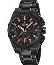 Festina F16969-4 Pánské Chrono kolo černé oceli chronograf hodinky