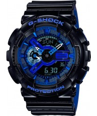 Casio GA-110LPA-1AER Pánská g-shock světový čas černá modrá pryskyřice popruh hodinky