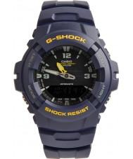 Casio G-100-2BVMUR Pánská g-shock modrá pryskyřice popruh hodinky