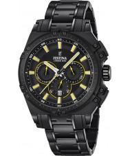 Festina F16969-3 Pánské Chrono kolo černé oceli chronograf hodinky