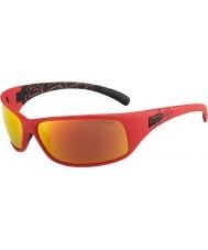 Bolle Recoil matné červené polarizované sluneční brýle TNS požární