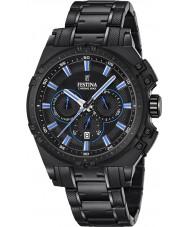 Festina F16969-2 Pánské Chrono kolo černé oceli chronograf hodinky