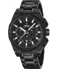 Festina F16969-1 Pánské Chrono kolo černé oceli chronograf hodinky