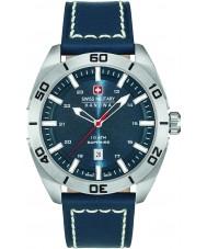 Swiss Military 6-4282-04-003 Pánská šampión modrý kožený řemínek hodinky
