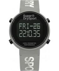 Superdry SYL203E Dámy digi krokoměr šedá silikonový pásek hodinky