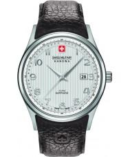 Swiss Military 6-4286-04-001 Pánská navalus hnědý kožený řemínek hodinky