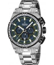 Festina F16968-3 Pánské Chrono kolo stříbro ocelářský chronograf hodinky