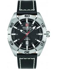 Swiss Military 6-4282-04-007 Pánská šampión černý kožený řemínek hodinky