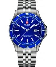 Swiss Military 6-5161-2-04-003 Pánská vlajkový stříbrné oceli náramek hodinky