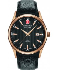 Swiss Military 6-4286-09-007 Pánská navalus černý kožený řemínek hodinky