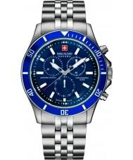 Swiss Military 6-5183-7-04-003 Pánská vlajkový Chrono stříbrné hodinky