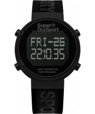 Superdry SYG203BB Pánská digi krokoměr černý silikonový pásek hodinky