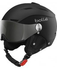 Bolle 31156 Backline hledí měkké černé a stříbrné lyžařská helma se stříbrnou pistolí a citronovou hledí - 59 až 61 cm