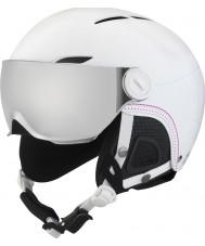 Bolle 31159 Julie clona měkký bílý lyžařská helma se stříbrnou pistolí a citronovou hledí - 52-54cm